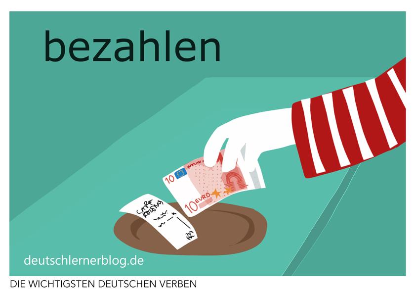 bezahlen - illustrierte Verben