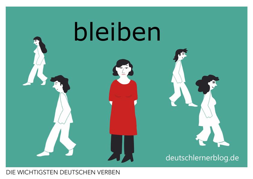 bleiben - deutsche Verben