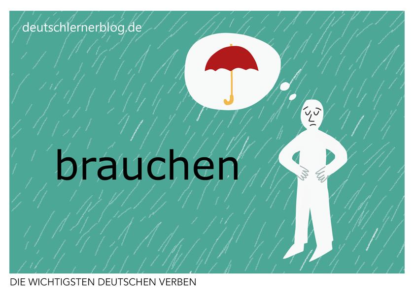 brauchen - deutsche Verben