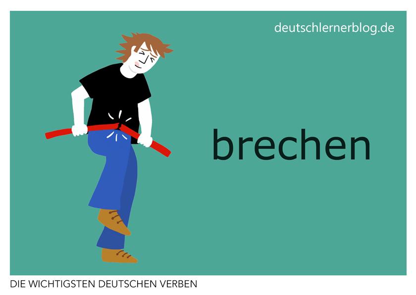 brechen - deutsche Verben