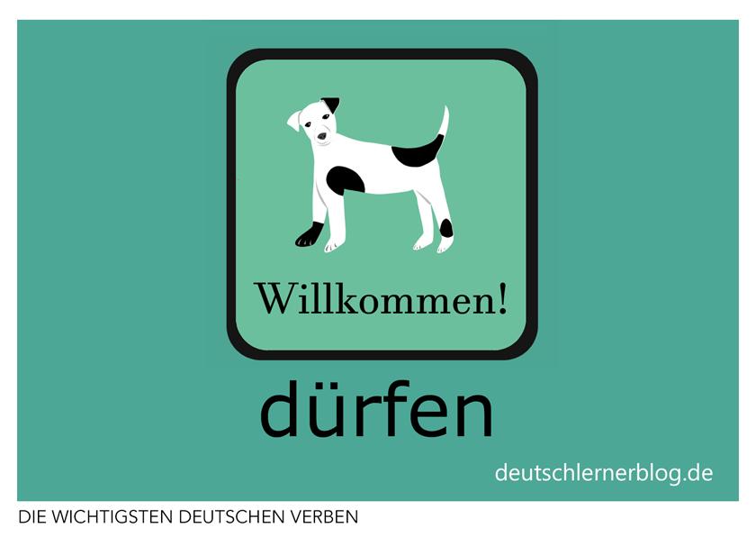 dürfen - illustrierte Verben