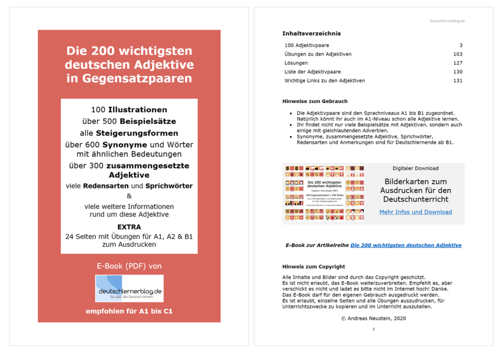 200 Adjektive E-Book