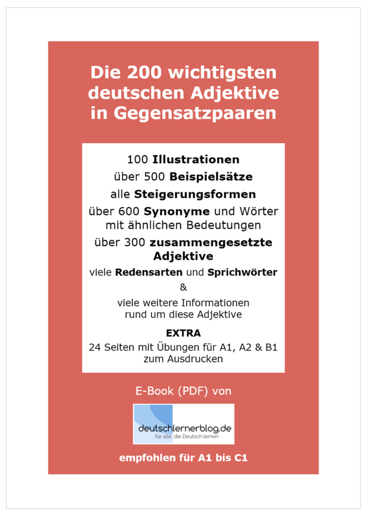 deutsche Adjektive - E-Book