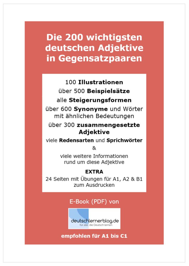 deutsche Adjektive - E-Book