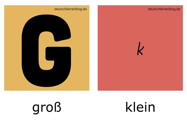 groß - klein - illustrierte Adjektive