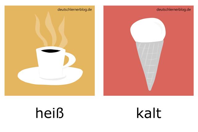 heiß - kalt - Kaffee - Eis -