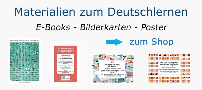 Materialien zum Deutsch lernen - Unterrichtsmaterialien DaF