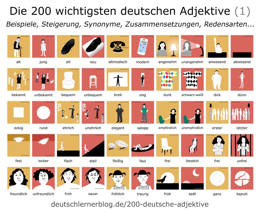 200 deutsche Adjektive