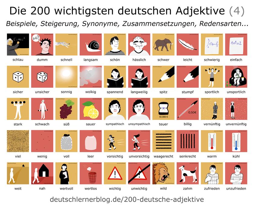 Die 200 wichtigsten deutschen Verben - Gegensatzpaare