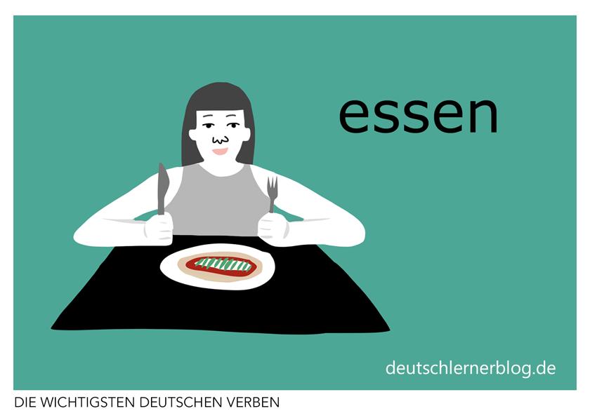 essen - Verben illustriert