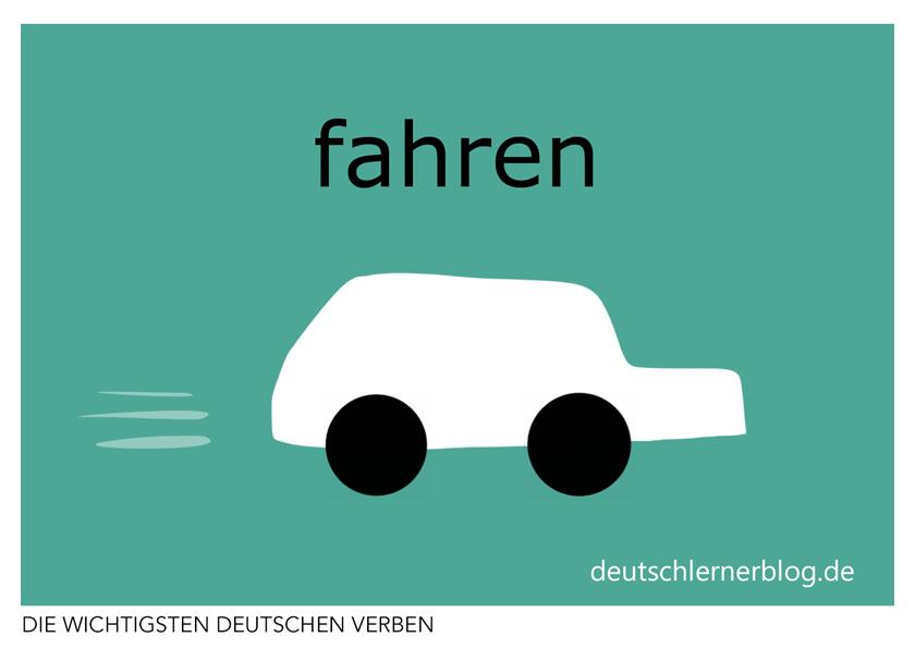 fahren - Verben illustriert