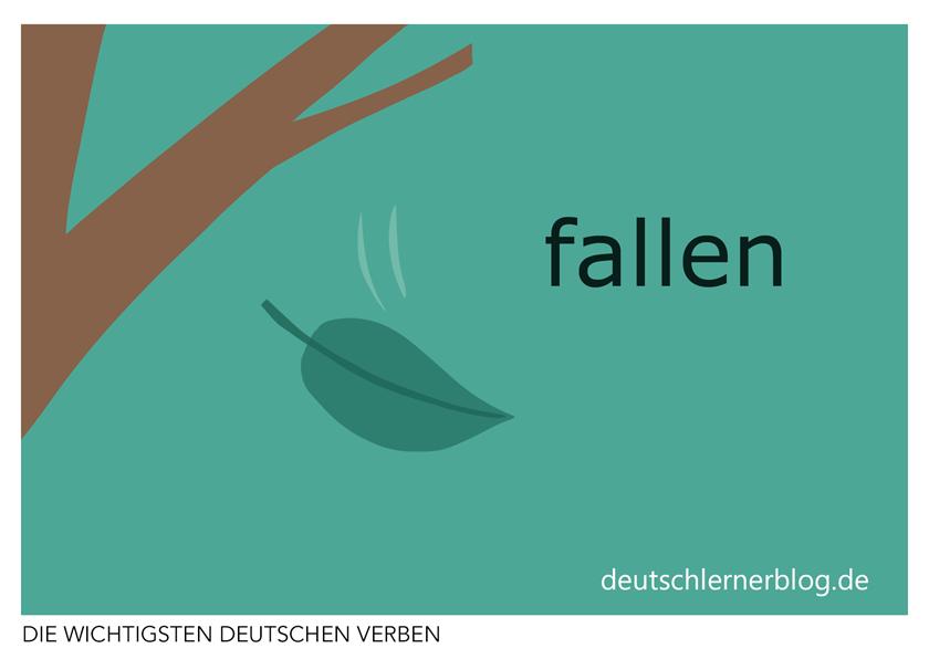 fallen - illustrierte Verben