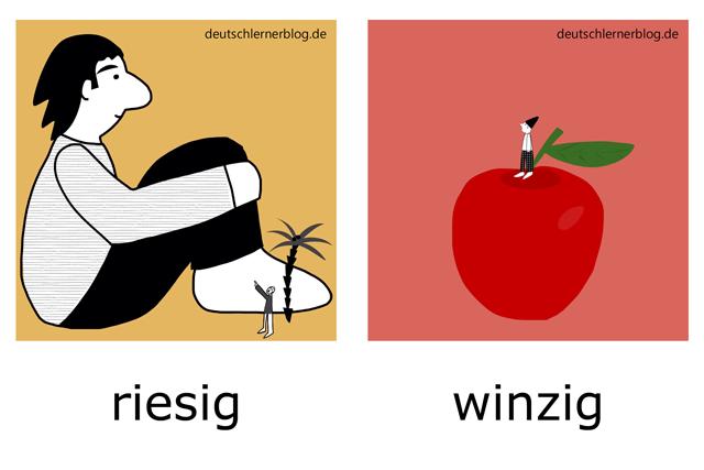 riesig - winzig