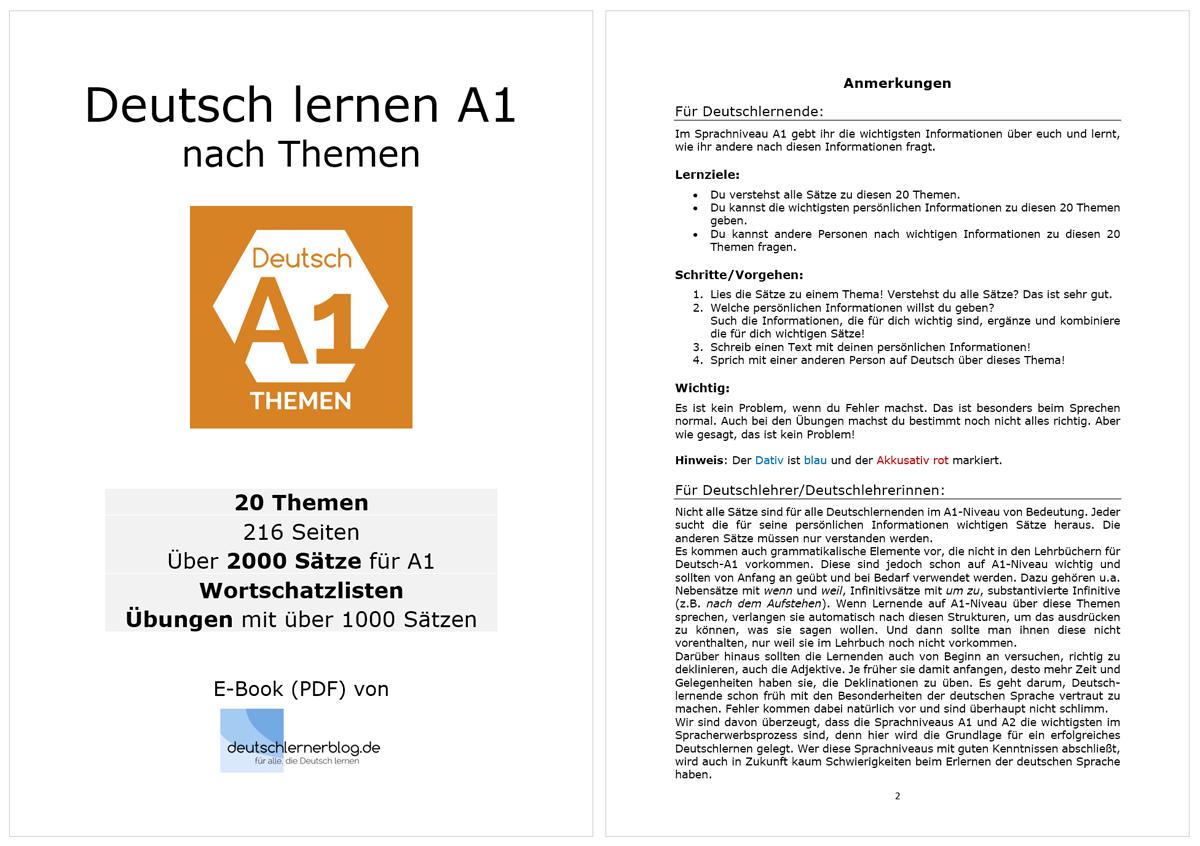E-Book Deutsch lernen A1