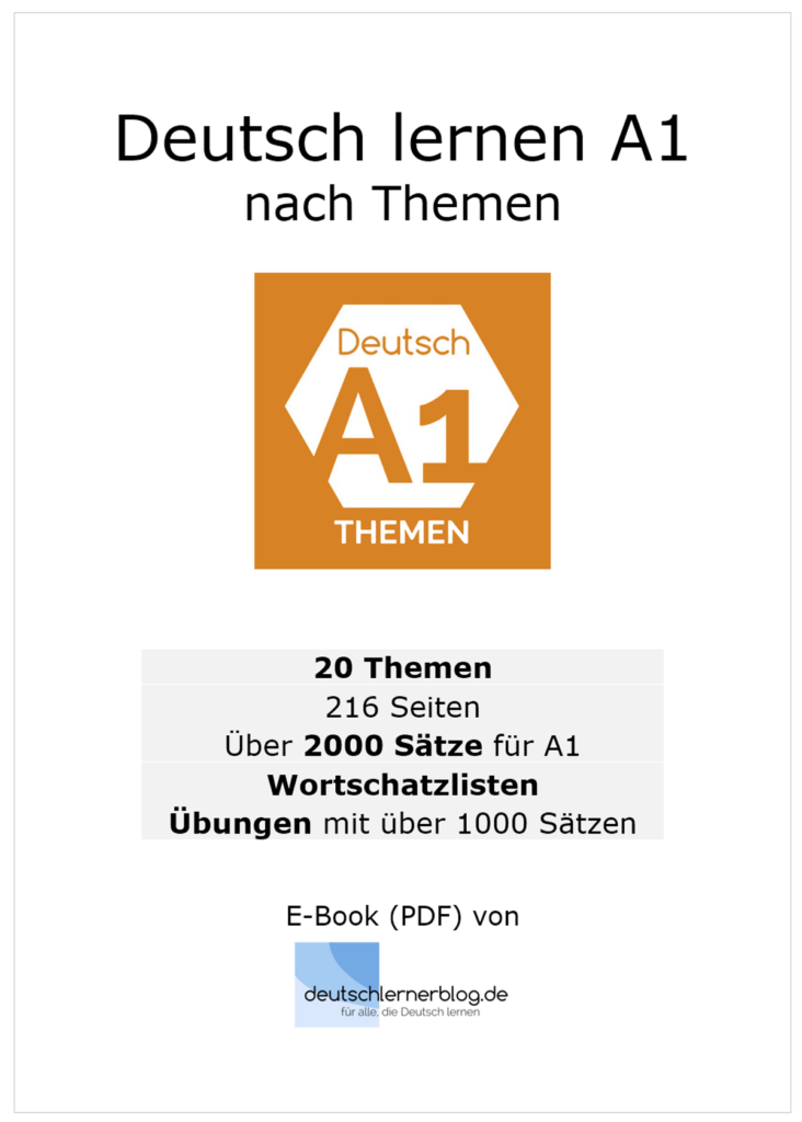E-Book Deutsch lernen A1 nach Themen