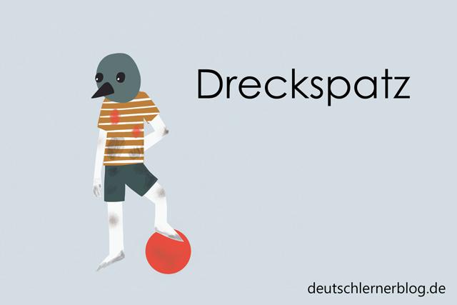 Dreckspatz - Wortschatz mit Bildern lernen