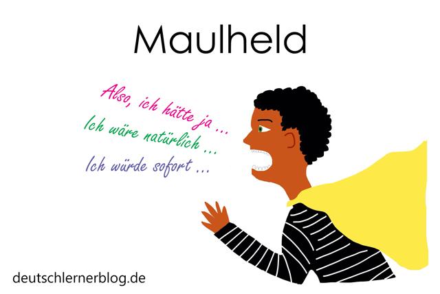 Maulheld - Wortschatz mit Bildern