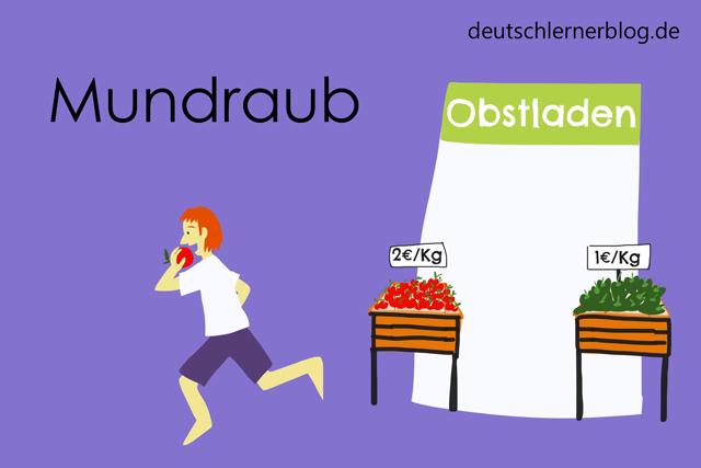 Mundraub - Wortschatz mit Bildern lernen