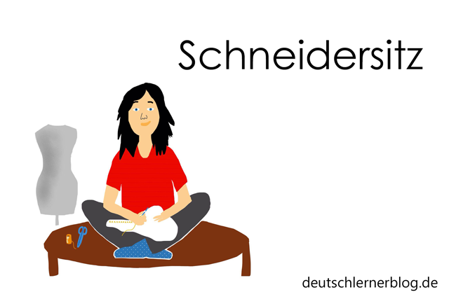Schneidersitz - Wortschatz mit Bildern lernen