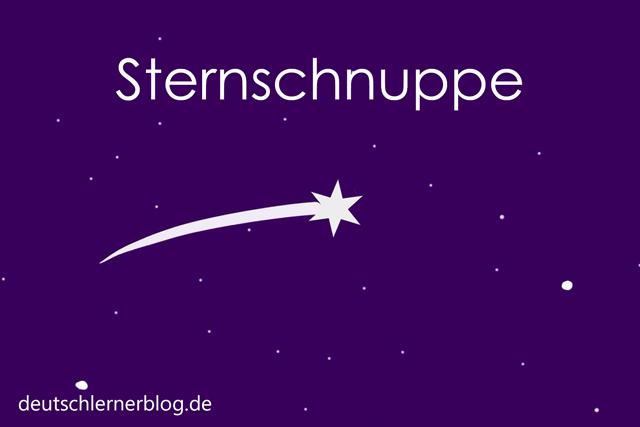Sternschnuppe - Wortschatz mit Bildern lernen