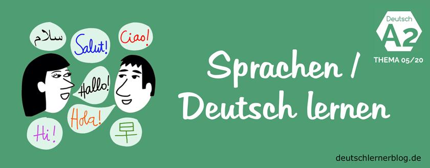 Sprachen lernen - Deutsch lernen