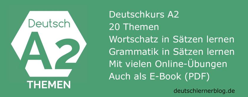 Deutsch A2 - Deutschkurs A2