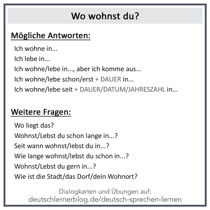 Wortschatz Wohnen Wohnung Deutsch Lernen A1 Nach Themen 04 20