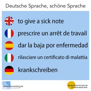 krankschreiben deutschlernerblog deutschwortschatz Galerie - deutsche Sprache