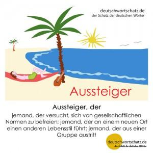 Aussteiger - Wortschatz Deutsch Bilder