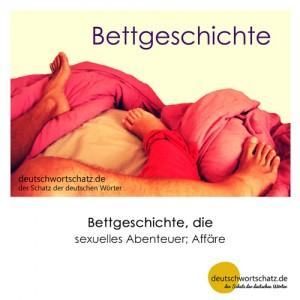 Bettgeschichte - Wortschatz Deutsch Bilder
