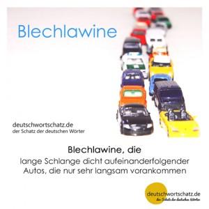 Blechlawine - Wortschatz Deutsch Bilder