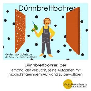 Dünnbrettbohrer - Wortschatz Deutsch Bilder
