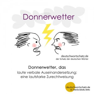 Donnerwetter - Wortschatz Deutsch Bilder