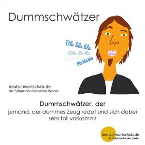 Dummschwätzer - Wortschatz Deutsch Bilder