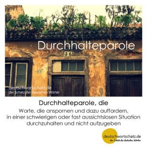 Durchhalteparole - Wortschatz Deutsch Bilder
