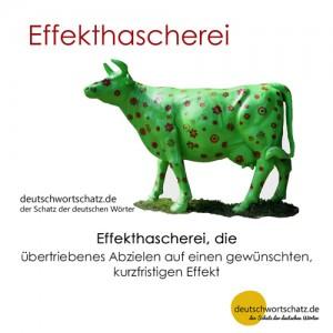 Effekthascherei - Wortschatz Deutsch Bilder