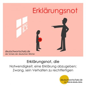 Erklärungsnot - Wortschatz Deutsch Bilder