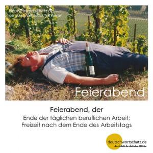 Feierabend - Wortschatz Deutsch Bilder