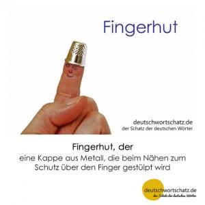 Fingerhut - Wortschatz Deutsch Bilder