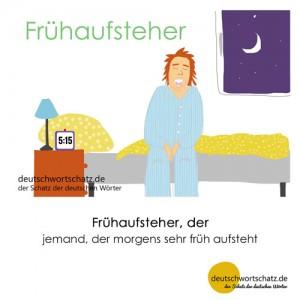 Frühaufsteher - Wortschatz Deutsch Bilder