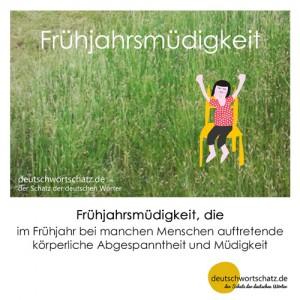 Frühjahrsmüdigkeit - Wortschatz Deutsch Bilder