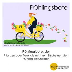 Frühlingsbote - Wortschatz Deutsch Bilder
