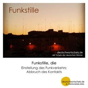 Funkstille - Wortschatz Deutsch Bilder