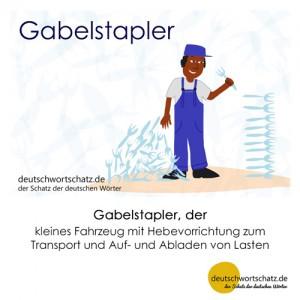 Gabelstapler - Wortschatz Deutsch Bilder