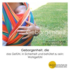 Geborgenheit - Wortschatz Deutsch Bilder