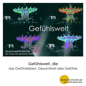 Gefühlswelt - Wortschatz Deutsch Bilder