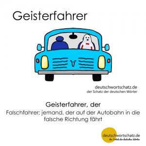 Geisterfahrer - Wortschatz Deutsch Bilder
