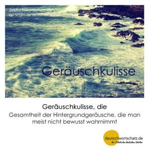 Geräuschkulisse - Wortschatz Deutsch Bilder