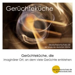Gerüchteküche - Wortschatz Deutsch Bilder