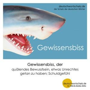 Gewissensbiss - Wortschatz Deutsch Bilder